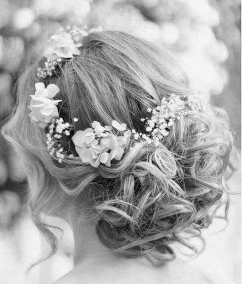 Afbeelding van een bruidskapsel